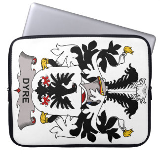 Dyre Family Crest Laptop Computer Sleeves