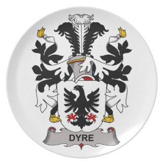 Dyre Family Crest Dinner Plate