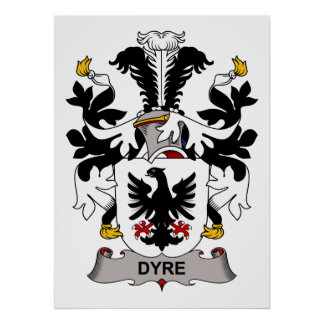 Dyre Family Crest Posters