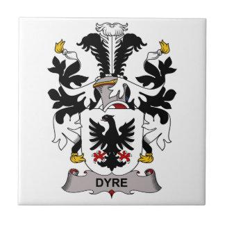 Dyre Family Crest Ceramic Tiles