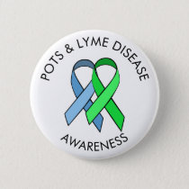 Dysautonomia and Lyme Disease Awareness Ribbon Pin