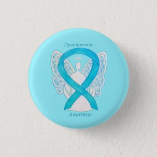 Dysautonomia Awareness Ribbon Angel Pin Buttons