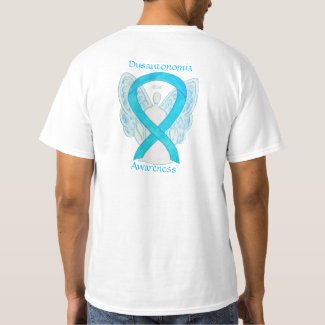Dysautonomia Awareness Ribbon Angel Shirts