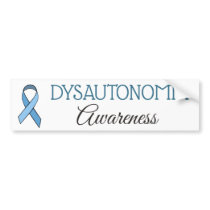 Dysautonomia Awareness Ribbon Bumper Sticker