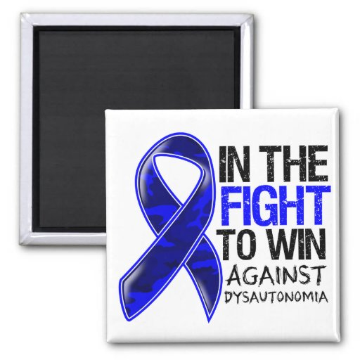Dysautonomia - Fight To Win Refrigerator Magnets