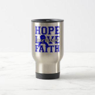 Dysautonomia Hope Love Faith Survivor Travel Mug