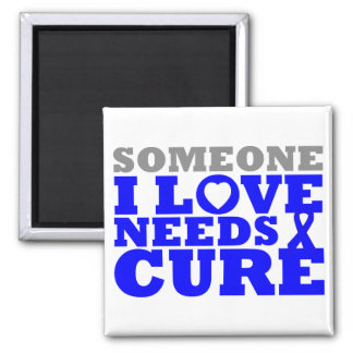 Dysautonomia Someone I Love Needs A Cure 2 Inch Square Magnet