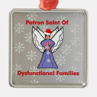 Dysfunctional Family Angel Metal Ornament
