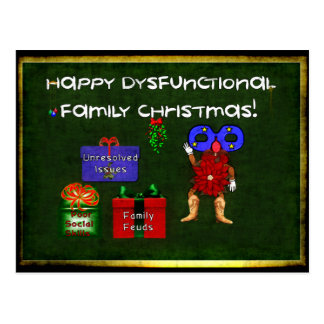 Dysfunctional Family Christmas Postcard