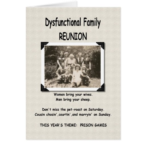 disfunctional families essay
