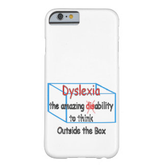 Dyslexia,  ability not disability! barely there iPhone 6 case