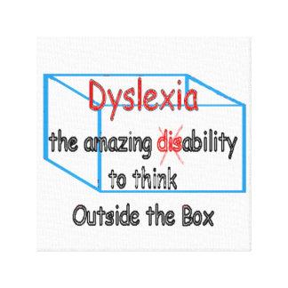 Dyslexia,  ability not disability! canvas print