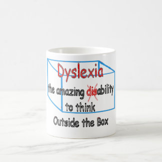 Dyslexia,  ability not disability! coffee mug