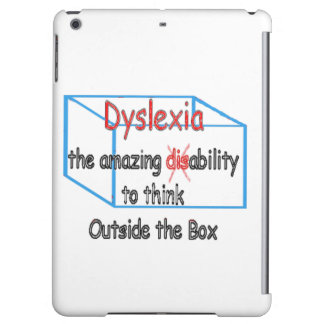 Dyslexia,  ability not disability! iPad air cover
