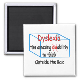 Dyslexia,  ability not disability! magnet