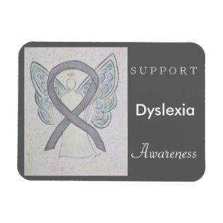 Dyslexia Awareness Ribbon Angel Custom Magnet
