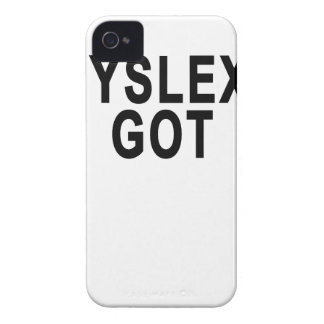 DYSLEXIA GOT.png Case-Mate iPhone 4 Cases