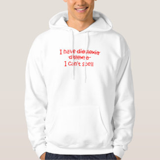 Dyslexia Hoodie in Red