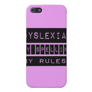 Dyslexia: My Spelling My Rules! Dyslexic Cover For iPhone SE/5/5s