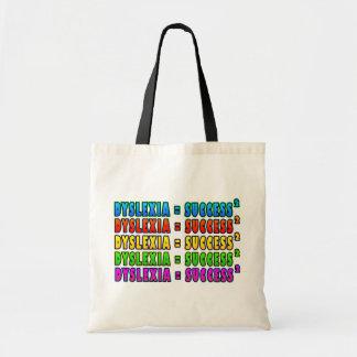 Dyslexia = Success2 funky logo Tote Bag