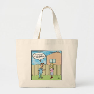 Dyslexic Cartoonist Funny Gifts Tees & Collectible Large Tote Bag