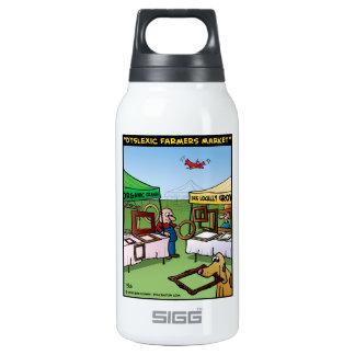 """""""Dyslexic Farmers Market"""" Insulated Water Bottle"""