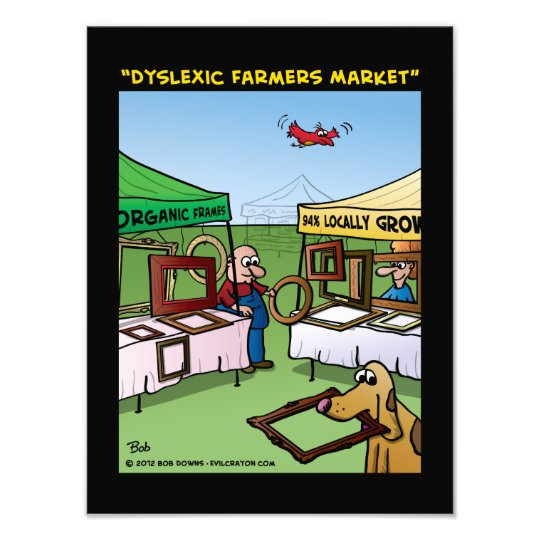 """Dyslexic Farmers Market"" Photo Print"