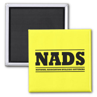 Dyslexic humor 2 inch square magnet