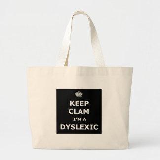 Dyslexic keep calm and carry on bag
