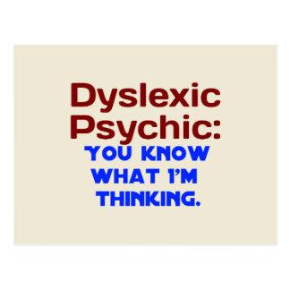 Dyslexic Psychic Postcard