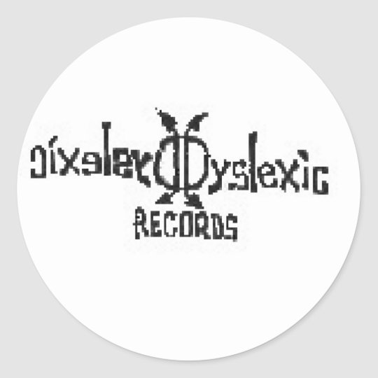 Dyslexic Records Classic Round Sticker