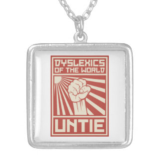 Dyslexics of the World UNTIE Personalized Necklace