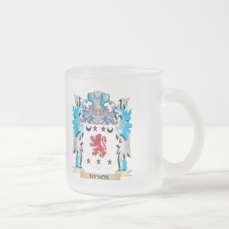 Dyson Coat of Arms - Family Crest 10 Oz Frosted Glass Coffee Mug