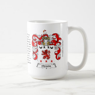 Dyson, the Origin, the Meaning and the Crest Classic White Coffee Mug
