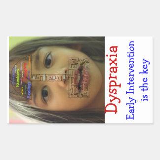 Dyspraxia awareness rectangular sticker