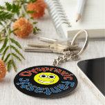 Dyspraxic Fantastic Smiley Keyring Basic Round Button Keychain