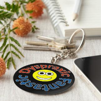 Dyspraxic Fantastic Smiley Keyring Basic Round Button Key Ring