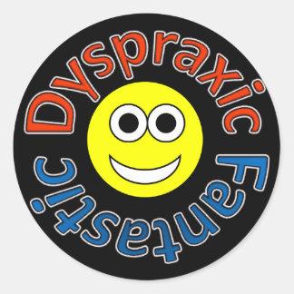 Dyspraxic Fantastic Smiley Stickers