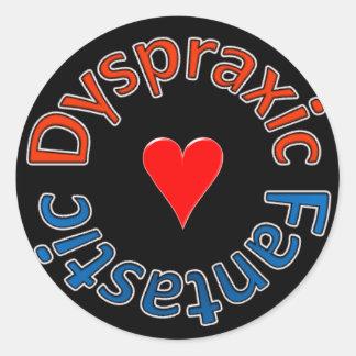 Dyspraxic Fantastic Sticker (Heart)