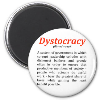dystocracy2.png 2 inch round magnet