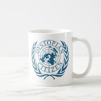 Dystopian citizen - dark blue coffee mug