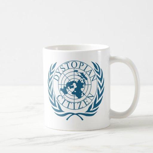 Dystopian citizen - dark blue coffee mugs