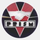 DYSTOPIAN PRISM BUTTON CLASSIC ROUND STICKER