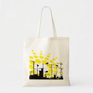 Dystopian sunrise bags