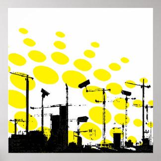 Dystopian sunrise poster