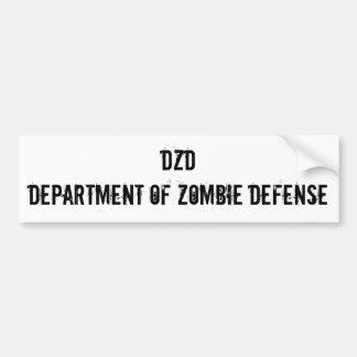DZD Department of Zombie Defense Car Bumper Sticker