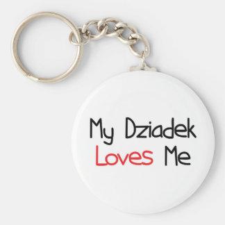 Dziadek Loves Me Keychain