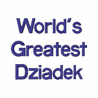 Dziadek más grande del mundo camiseta polo bordada