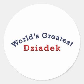 Dziadek más grande del mundo pegatina redonda