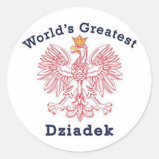 Dziadek más grande Eagle del mundo Pegatina Redonda